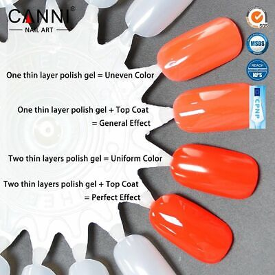 Nail gel polish set CANNI Soak off UV LED Colour Glitter Base Top Coat Varnish 10