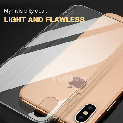 iPhone X XS Max XR 8 7 Shockproof Slim Crystal Clear  Hard Case Cover For Apple 6