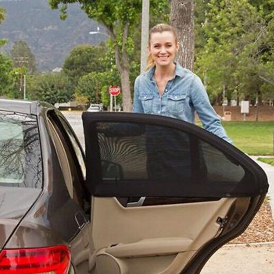 Univesal 2x Car Rear Window UV Mesh Sun Shades Blind Kids Child Sunshade Blocker 3