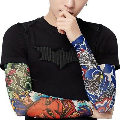 10Pcs Cooling / Tattoos Arm Sleeves Sun UV Protection Cover Sport Basketball 5