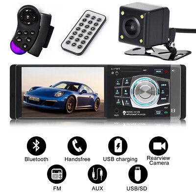 4.1'' Single 1 Din Car MP5 MP3 Player Stereo Wheel Control Bluetooth Radio FM AU 2