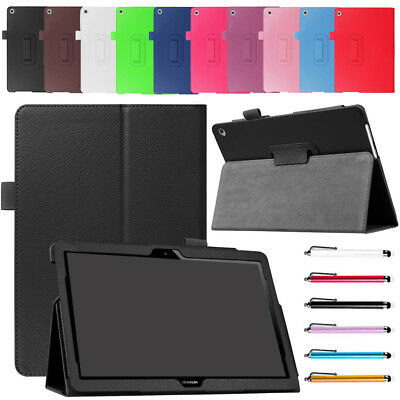 """For Huawei MediaPad T3 10 9.6""""AGS-W09/L09/L03 Folio PU Leather Stand Case Cover"""