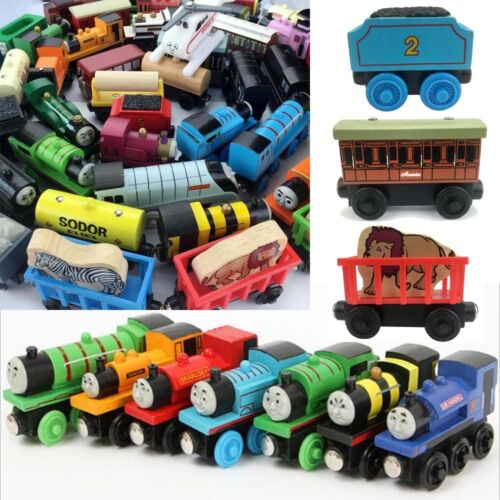 The Tank Engines Carriages Magnetic Wooden Train Toy Take-n-play Engine Kid Gift