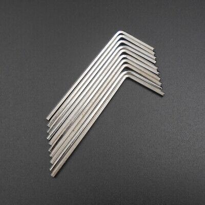 10Pcs M3 L-Handle Hardened Steel Hex Allen Hexagon Key Socket Wrench 1.5MM Edge 5