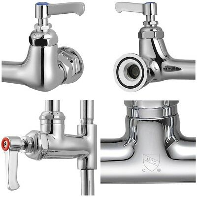 """Aquaterior® Commercial Pre-Rinse Faucet w/ 12"""" Add-On Faucet Dishwasher CUPC NSF"""
