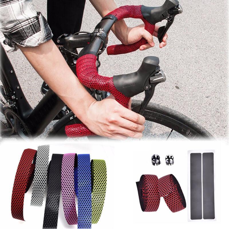 1 Pair Road Bike Cycling Sports Bicycle Cork Handlebar Wrap Tape + 2 Bar Plugs 4