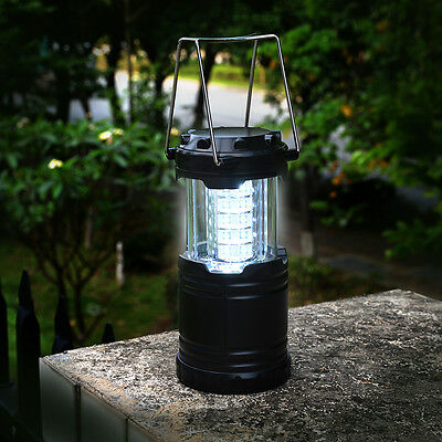 2p x 30 LED Camping Lantern Portable Collapsible Light Outdoor Hiking Work Lamp 2