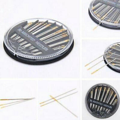 Assorted Hand Sewing NEEDLES - Embroidery Mending Craft Quilt Case Sew 30pcs Kj 4