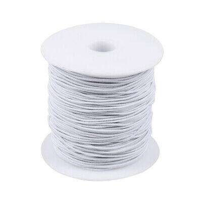100M Rond Cordon Élastique Bande Couture Blanc pour Coudre Artisanat DIY 3