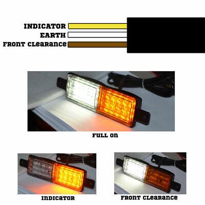 2X Sealed Bullbar Lights Set Front Indicator Park LED Bull Bar Light 3