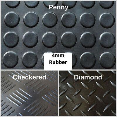 Heavy Duty Rubber Matting Garage Flooring 3mm or 4mm Roll Mat Van Car Lorry 2