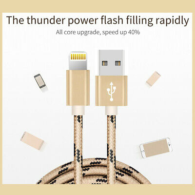 1M 2M 3M USB Lightning Charger Cable Cord Data for Apple iPhone iPad iPod Air 10