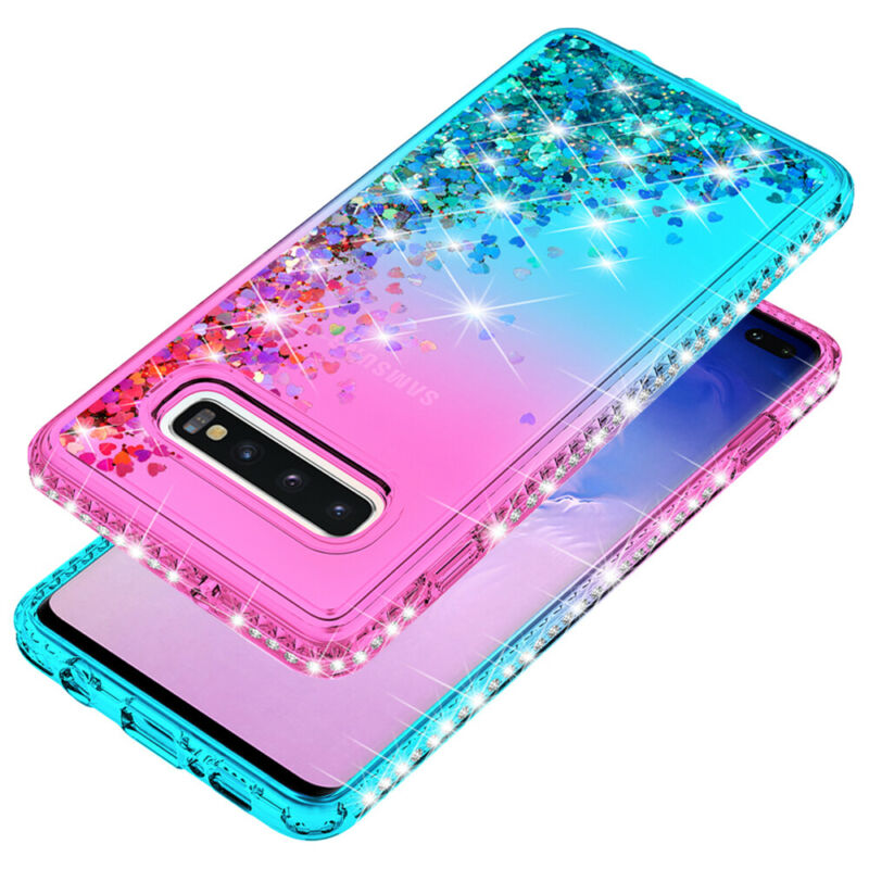 For Samsung Galaxy S9 S10 5G Plus + Note 9 10 Shockproof Cover Luxury Bling Case 8