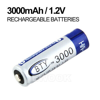 OZ 4-20X BTY AA Rechargeable Battery Recharge Batteries 1.2V 3000mAh Ni-MH 4
