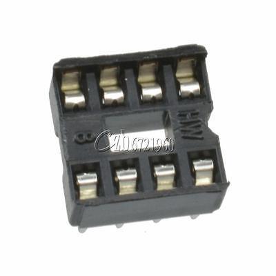 100PCS 8-Pins 8pin DIP Pitch IC Sockets Adaptor Solder Type Socket 2
