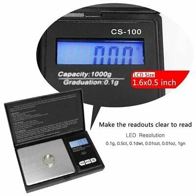 Pocket 1000g x 0.1g Digital Jewelry Gold Coin Gram Balance Weight Precise Scale 3
