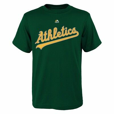 timeless design 5adc4 c900b YOENIS CESPEDES OAKLAND Athletics MLB Majestic YOUTH Green Player Jersey  T-Shirt