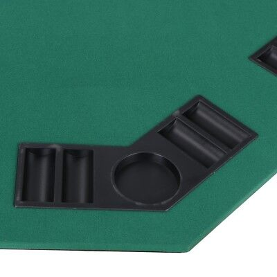 """48"""" Folding Octagon Poker Card Game Table Top w/Cup Chip Holders Blackjack Party 8"""