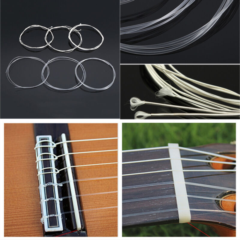 6 Pcs Acoustic Guitar Nylon Strings Wound Clear Gauge Set for Classic Guitar Hot 3
