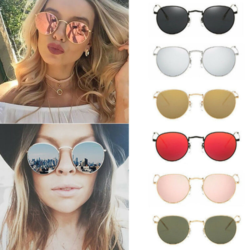 30a45d15d3d 1 of 11FREE Shipping Women Retro Fashion Mirrored Round Lens Oversized  Sunglasses Eye Glasses