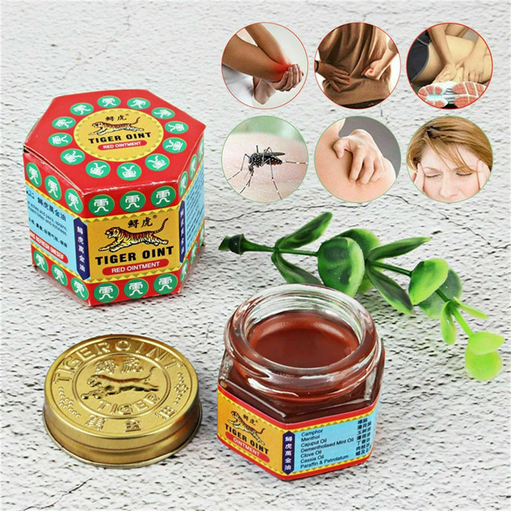 30g Originic TIGER Red Balm Thai Herb Massage Ointment Relief Muscle Ache Pain D 3