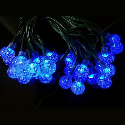 30 LED Solar Powered Garden Party Fairy String Crystal Ball Lights Outdoor 10