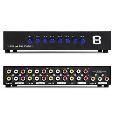 AV Switch Box Composite Selector 8 Port RCA Audio Video 8 In 1 Out To TV 3