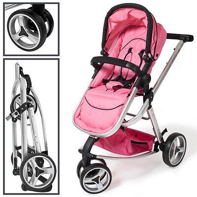 SILLA PASEO Cochecito de bebé Carrito para salir Sillita de viaje Cochecito rosa 3