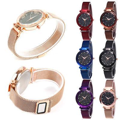 Starry Sky Watch Magnet Strap Free Buckle Stainless Steel Women Gift UK SELLER 8