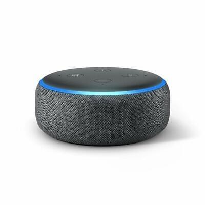 NEW SEALED Amazon Echo Dot (3rd Gen) Smart speaker with Alexa - Charcoal Black 2