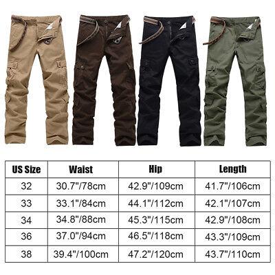Men's Combat Cotton Cargo Pants Military Camouflage Camo Trousers 7