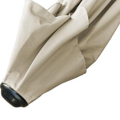 2.5M Round Garden Parasol Umbrella Patio Sun Shade Aluminium Crank Tilt 9
