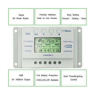 Solar Panel Regulator LCD 10/20/30/40A 12V/24V MPPT Charge Controller 3 Timer SY 4