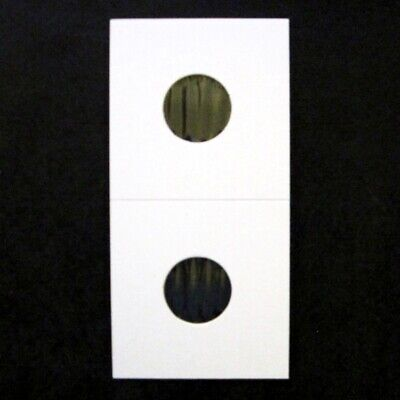 (500) Assorted Sizes 2x2 Mylar Cardboard Coin Flips for Storage | Paper Holder 5