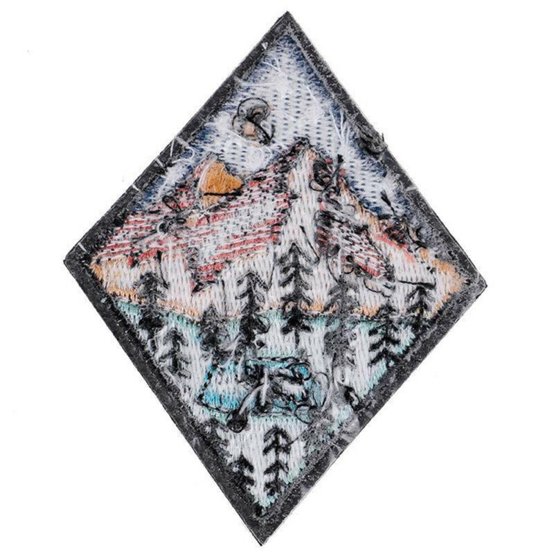 Outdoor Camping Embroidered Patch Nature Loving Badges Iron On Appliques 8