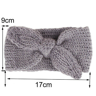 Knitted Baby Toddler Girls Kids Bow Knot Turban Headband HairBand Headwrap 0-3yr 8
