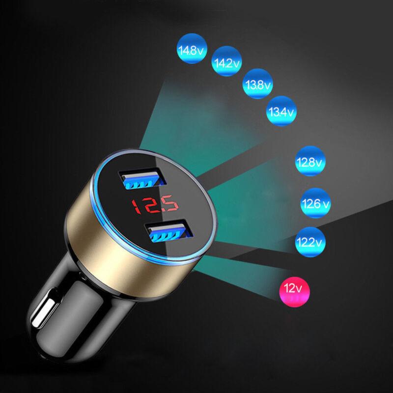 1PC Dual Ports 3.1A USB Car Auto Cigarette Charger Lighter Digital LED Voltmeter 9