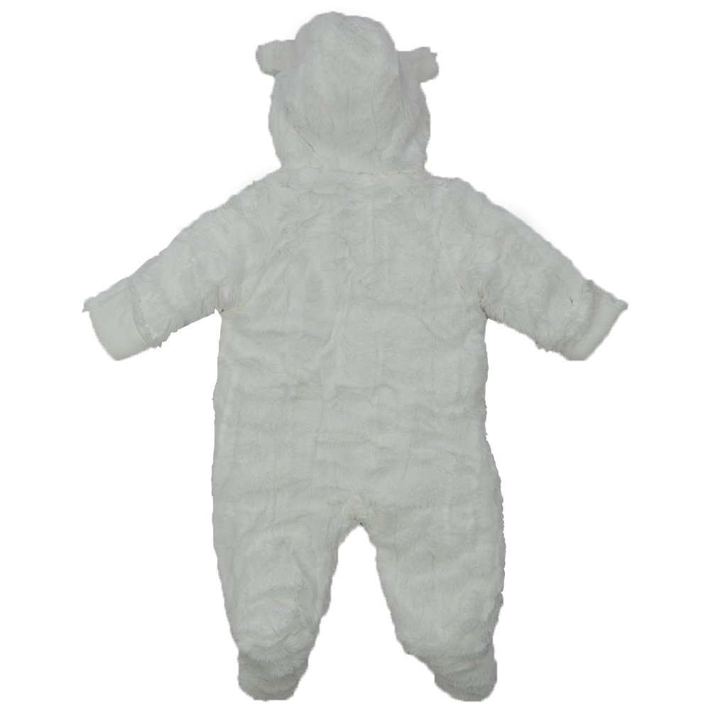 9567f39cb BABY SNOWSUIT SOFT Faux Fur Hooded All In One Snow Suit Romper ...