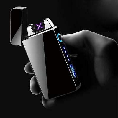 Dual Arc Electric USB Lighter Rechargeable Plasma Windproof Flameless Cigarette 2