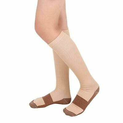 (5 Pairs) Copper Compression 20-30mmHg Graduated Support Socks Mens Womens S-XXL 7