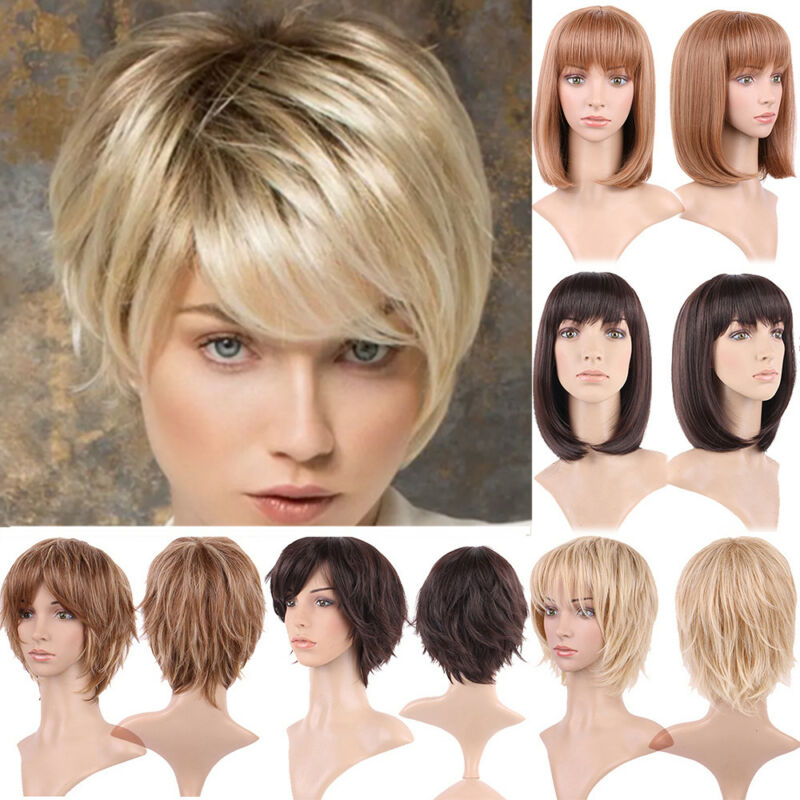 Golden Blonde Short 30cm Anime Cosplay Fancy Party Full Wig Synthetic Wigs Synthetic None-lacewigs Wig Cap High Standard In Quality And Hygiene