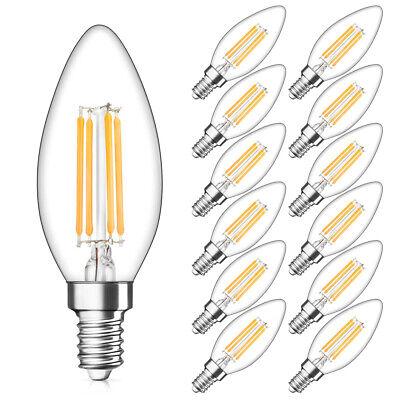 1x/4x 2W 4W 6W 8W E27 E14 LED Edison Filament Candle Globe Light Bulbs Lamp 7