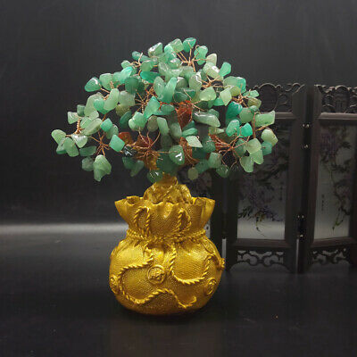 Feng Shui Money Wealth Tree Yellow Citrine Amethyst Crystal Gem Spiritual Lucky 11