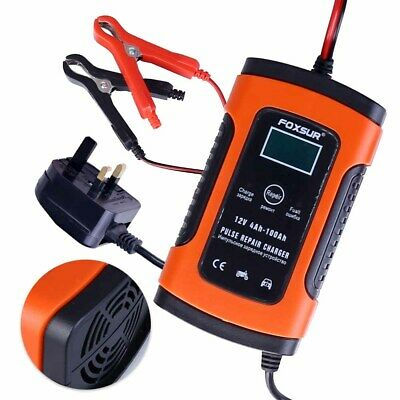 UK Intelligent 12V Motorcycle Motorbike Battery Charger Automatic Smart Trickle 8