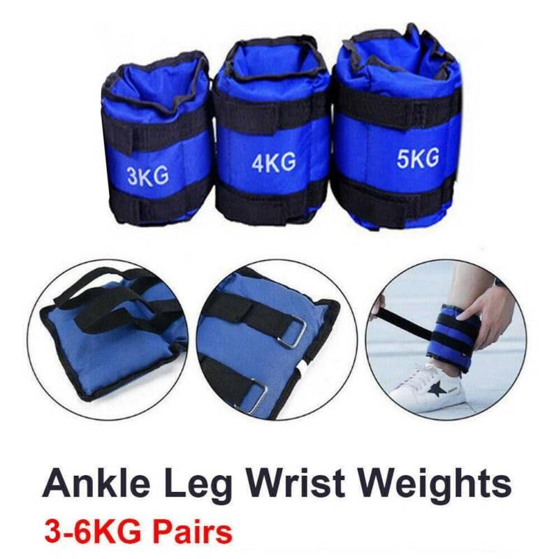 Wrist & Ankle Weights Leg Strap Resistant Adjustabls Strength 3KG, 4KG, 5KG,6KG 11