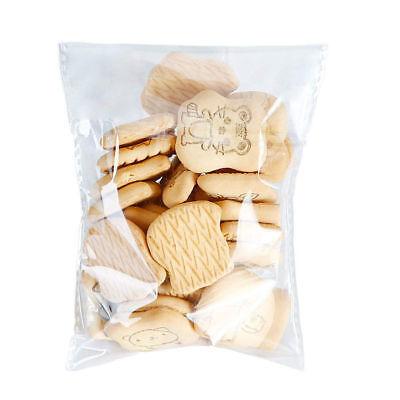 100 pcs Resealable Poly Bags Transparent Opp Bag Plastic Bags Self Adhesive Seal