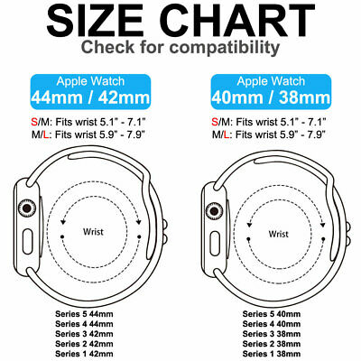 for Apple Watch iWatch Series 3 4 5 38/40/42/44mm Soft SILICONE Sport Strap Band 4