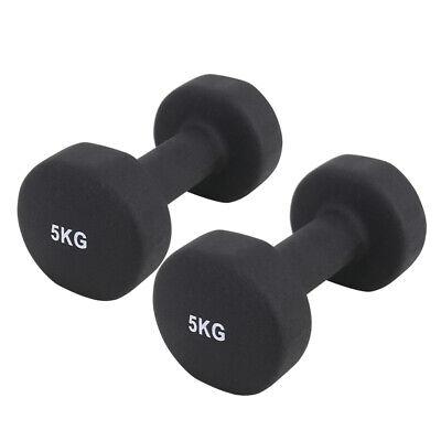 Neoprene Dumbbells Hexagonal Cast Iron Weights Ladies Home Gym Workout Aerobic 9