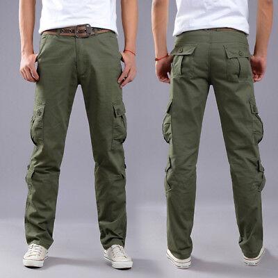 Men's Combat Cotton Cargo Pants Military Camouflage Camo Trousers 5