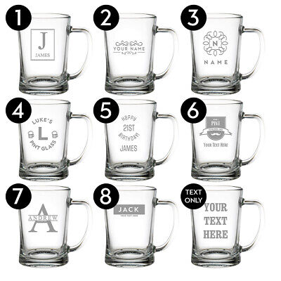 Personalised Glass Gifts Birthday Christmas Wedding Engrave Your Own Message 5